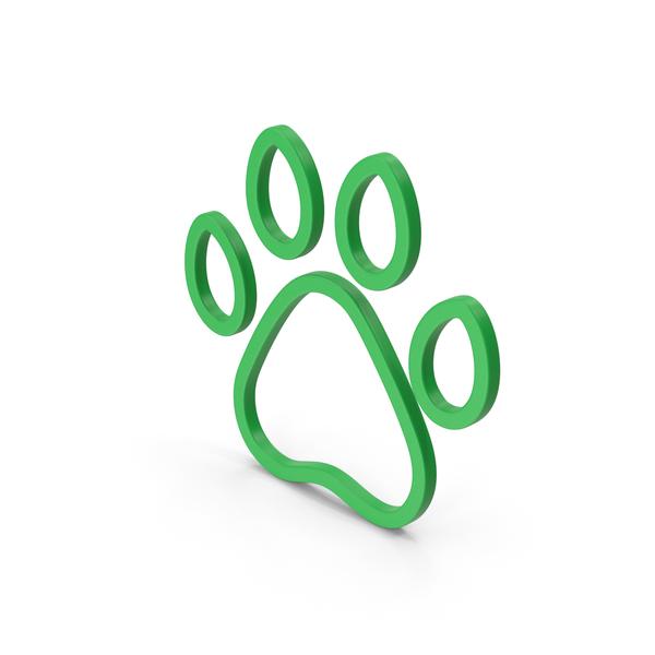 Pawn: Symbol Animal Paw Green PNG & PSD Images