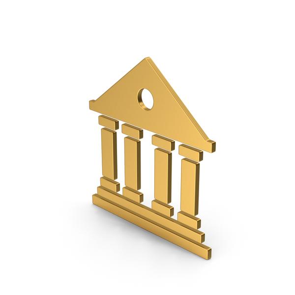 Logo: Symbol Architecture / Building Gold PNG & PSD Images