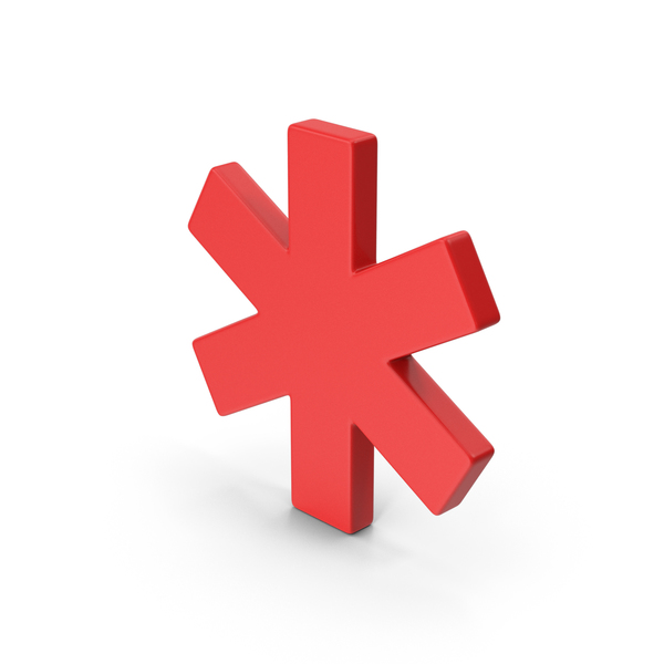 Industrial Equipment: Symbol Asterisk Red PNG & PSD Images
