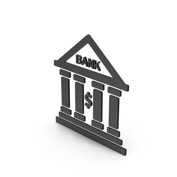 Computer Icon: Symbol Bank Black PNG & PSD Images