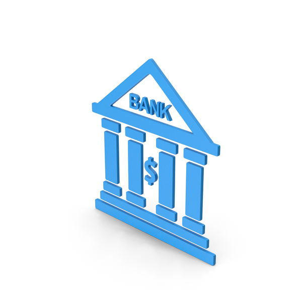 Computer Icon: Symbol Bank Blue PNG & PSD Images