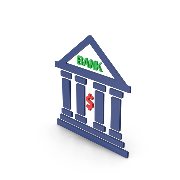 Computer Icon: Symbol Bank Colored PNG & PSD Images