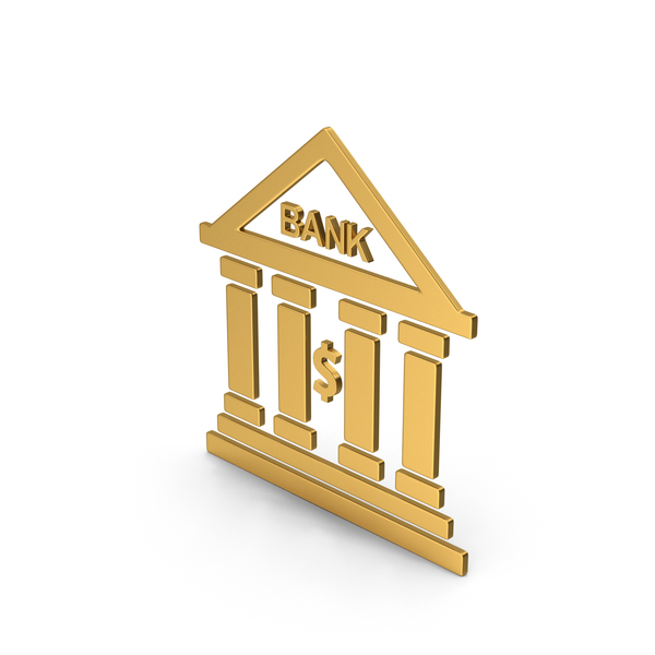 Computer Icon: Symbol Bank Gold PNG & PSD Images