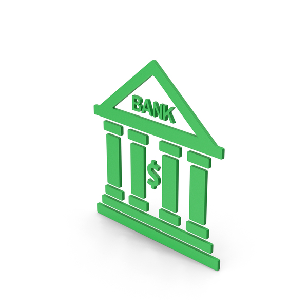 Computer Icon: Symbol Bank Green PNG & PSD Images