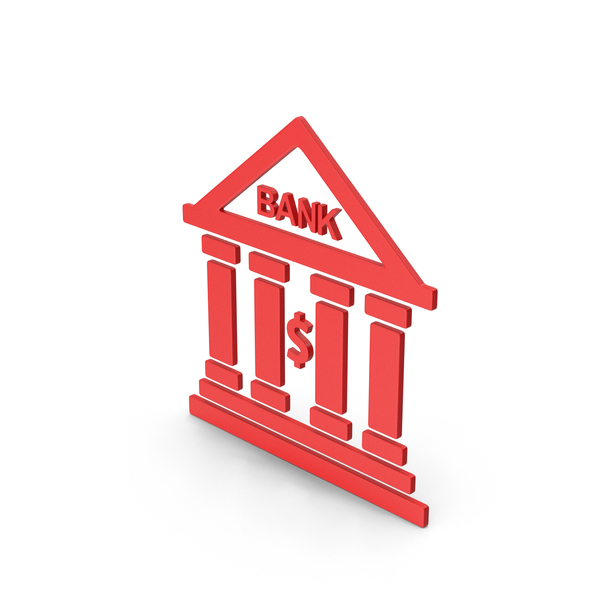 Computer Icon: Symbol Bank Red PNG & PSD Images