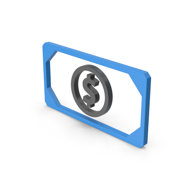 Symbol Banknote Blue PNG & PSD Images