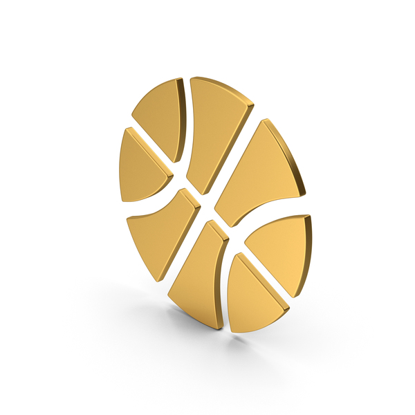 Ball: Symbol Basketball Gold PNG & PSD Images