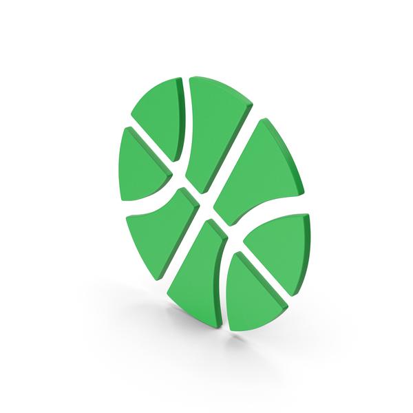 Ball: Symbol Basketball Green PNG & PSD Images