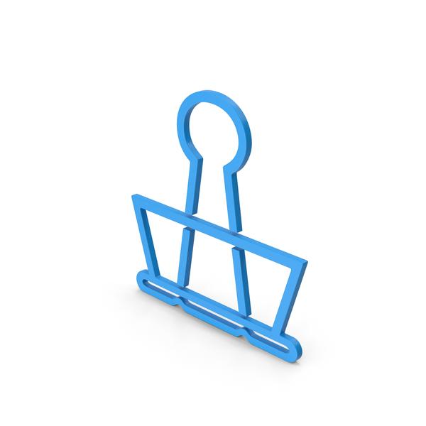 Clips: Symbol Binder Clip Blue PNG & PSD Images