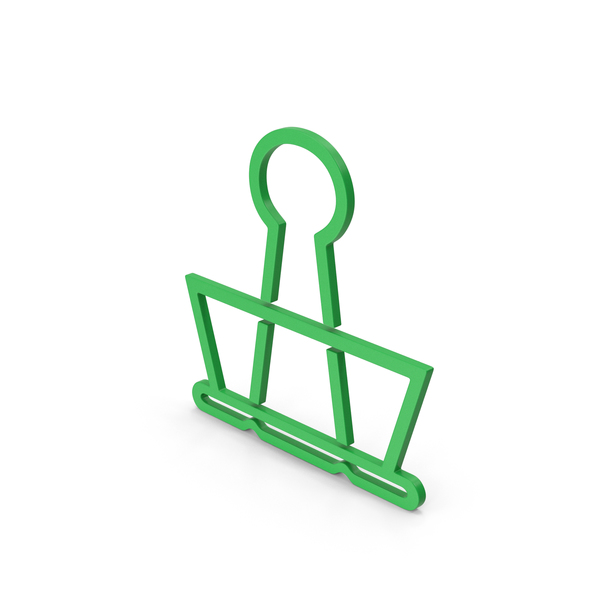 Clips: Symbol Binder Clip Green PNG & PSD Images