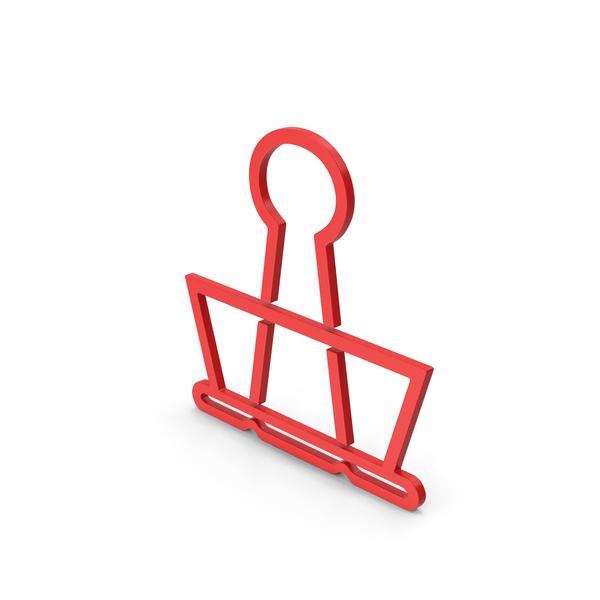 Clips: Symbol Binder Clip Red PNG & PSD Images