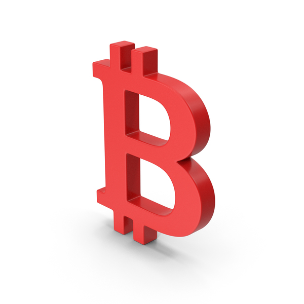 Symbol Bitcoin Red PNG & PSD Images