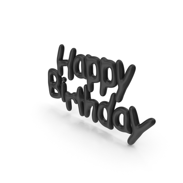 Symbol Black Happy Birthday PNG & PSD Images