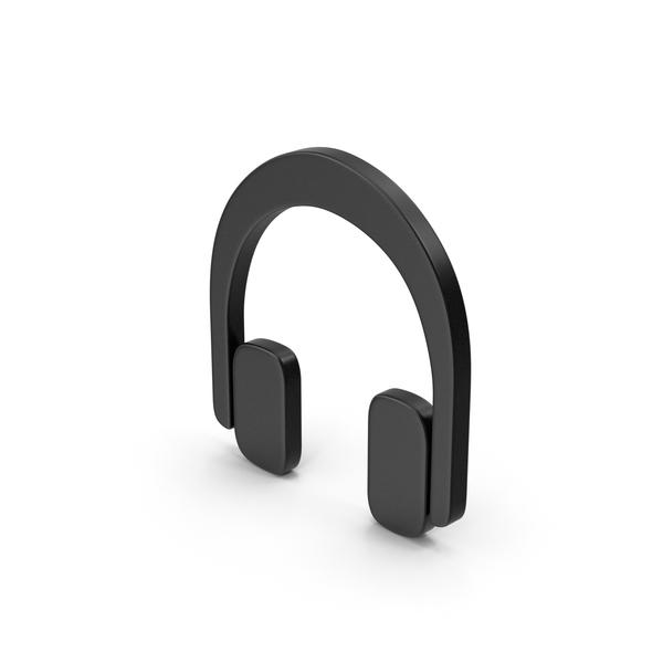 Symbol Black Headphones PNG & PSD Images