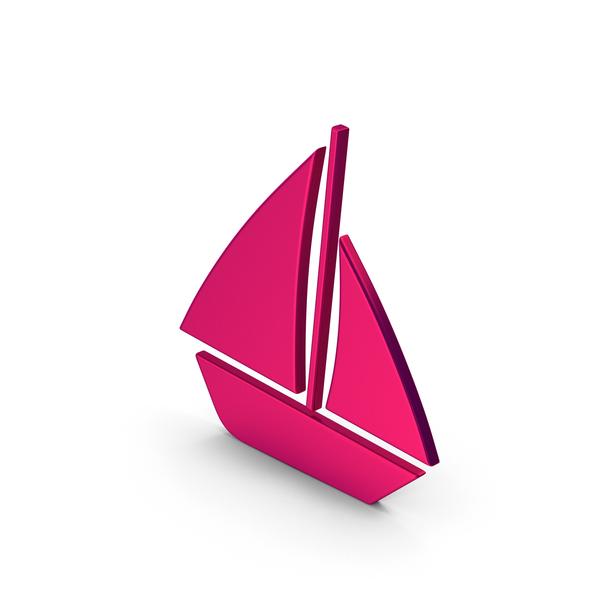 Symbols: Symbol Boat Metallic PNG & PSD Images