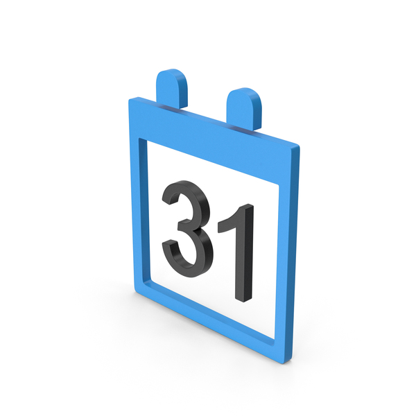 Symbol Calendar Blue PNG & PSD Images