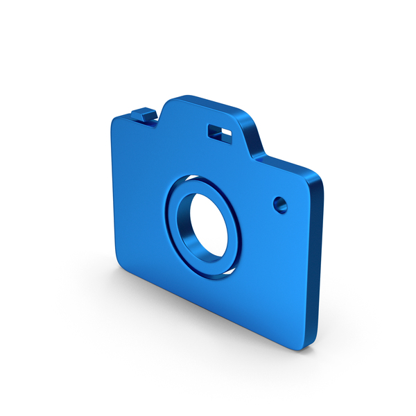 Logo: Symbol Camera Blue Metallic PNG & PSD Images
