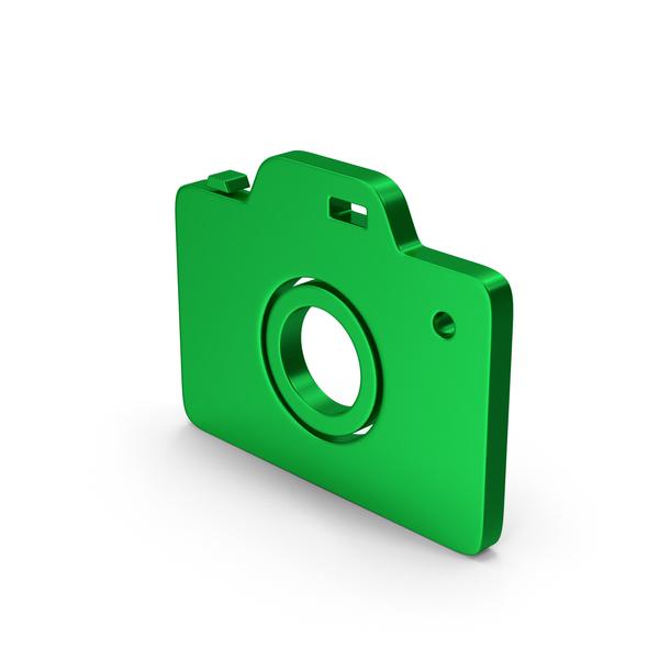 Logo: Symbol Camera Green Metallic PNG & PSD Images