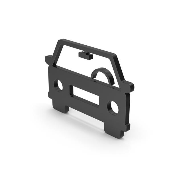 Computer Icon: Symbol Car Black PNG & PSD Images
