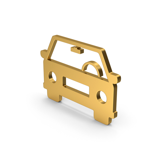 Computer Icon: Symbol Car Gold PNG & PSD Images