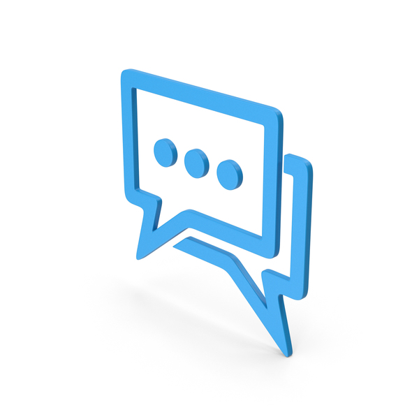 Computer Icon: Symbol Chatting Blue PNG & PSD Images