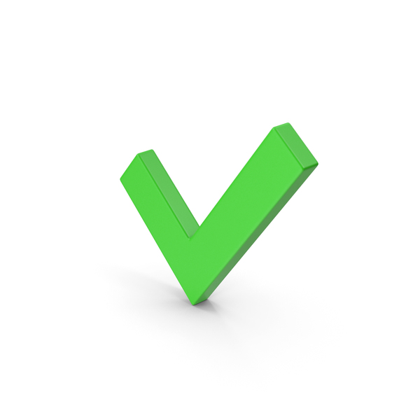 Symbol Check Mark Green PNG & PSD Images