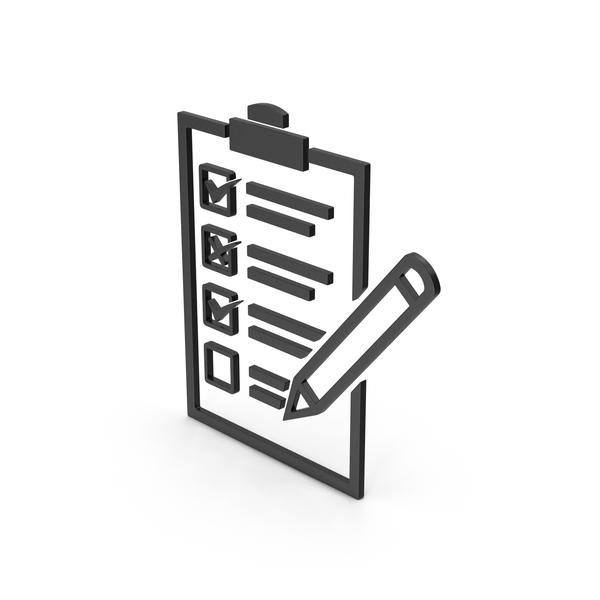 Industrial Equipment: Symbol Checklist Black PNG & PSD Images