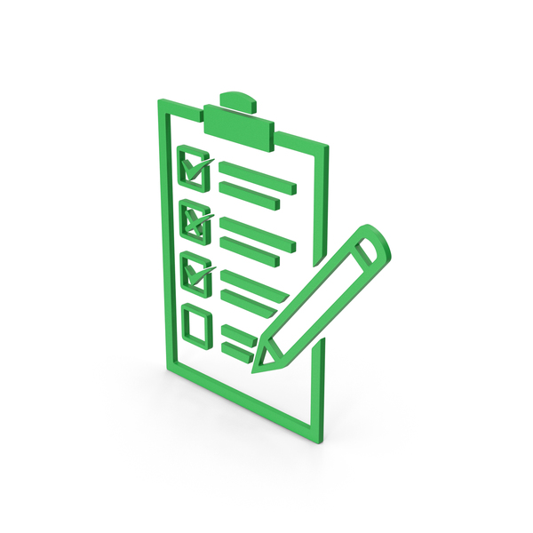 Industrial Equipment: Symbol Checklist Green PNG & PSD Images
