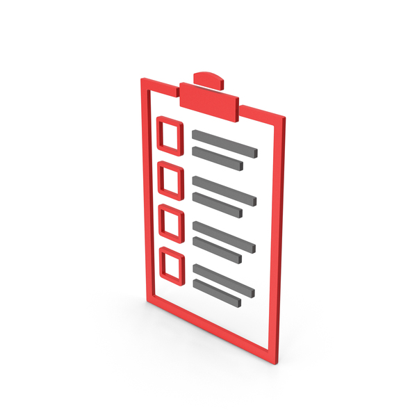 Computer Icon: Symbol Checklist Red PNG & PSD Images