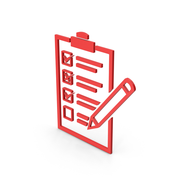Industrial Equipment: Symbol Checklist Red PNG & PSD Images