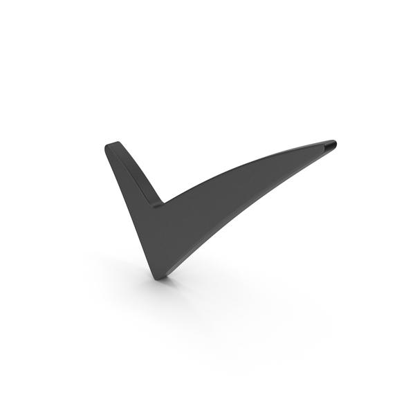 Logo: Symbol Checkmark Black PNG & PSD Images