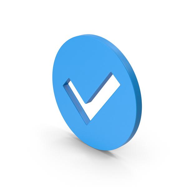 Logo: Symbol Checkmark Blue PNG & PSD Images