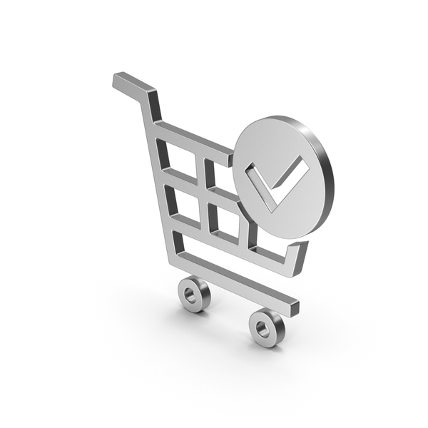 Symbol Checkout Shopping Cart Silver PNG & PSD Images