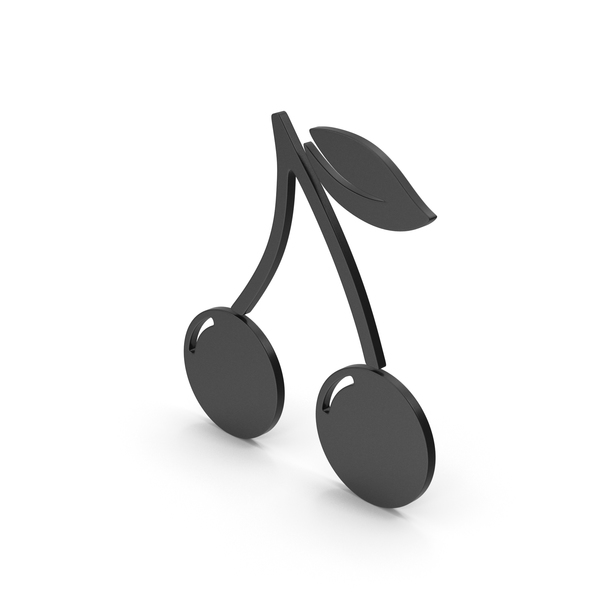 Logo: Symbol Cherries Black PNG & PSD Images