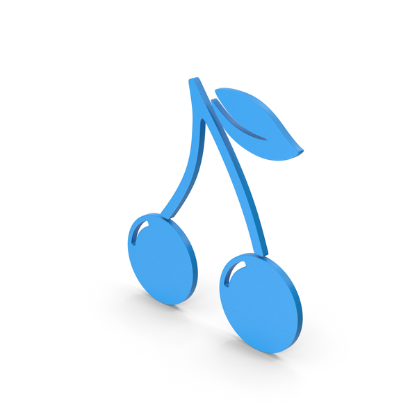Logo: Symbol Cherries Blue PNG & PSD Images
