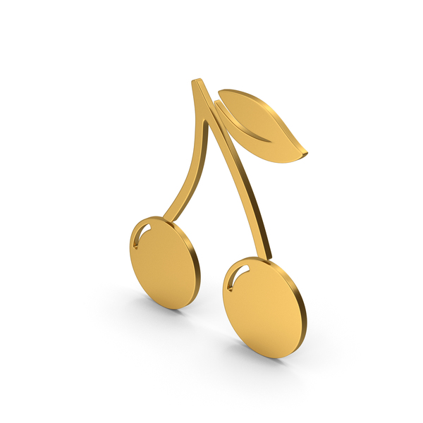 Logo: Symbol Cherries Gold PNG & PSD Images