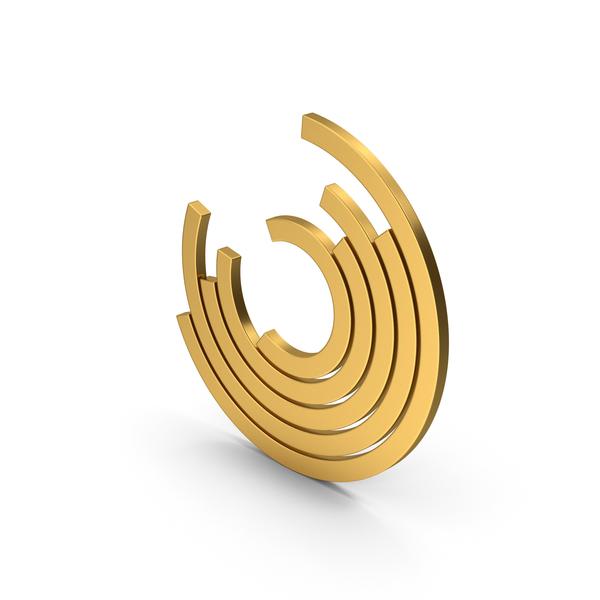 Pie: Symbol Circular Chart Gold PNG & PSD Images