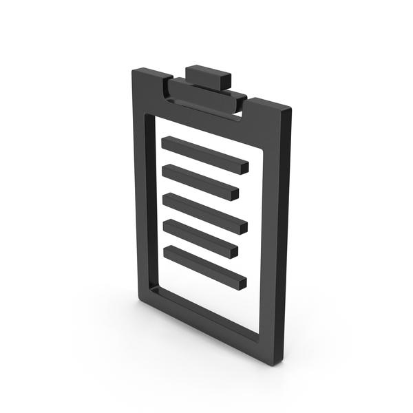 Logo: Symbol Clipboard Black PNG & PSD Images