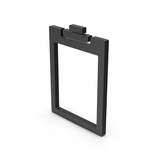 Logo: Symbol Clipboard Empty Black PNG & PSD Images