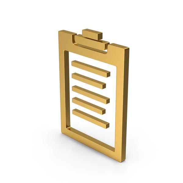 Logo: Symbol Clipboard Gold PNG & PSD Images