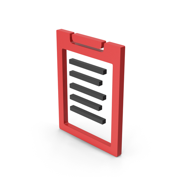 Logo: Symbol Clipboard Red PNG & PSD Images