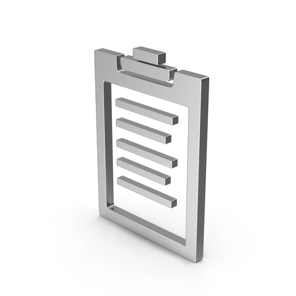 Logo: Symbol Clipboard Silver PNG & PSD Images