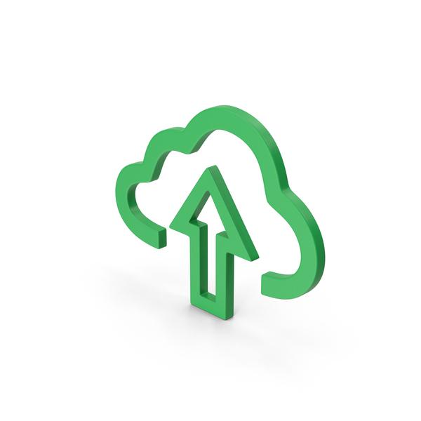 Symbol Cloud Upload Green PNG & PSD Images