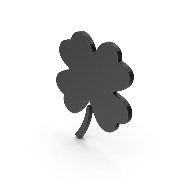 Symbol Clover Black PNG & PSD Images