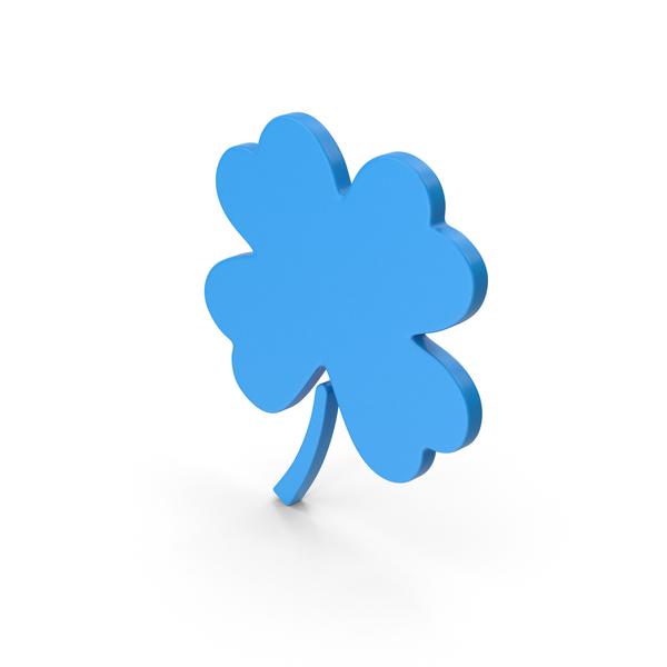 Symbol Clover Blue PNG & PSD Images