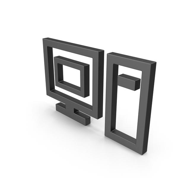 Symbol Computer Black PNG & PSD Images