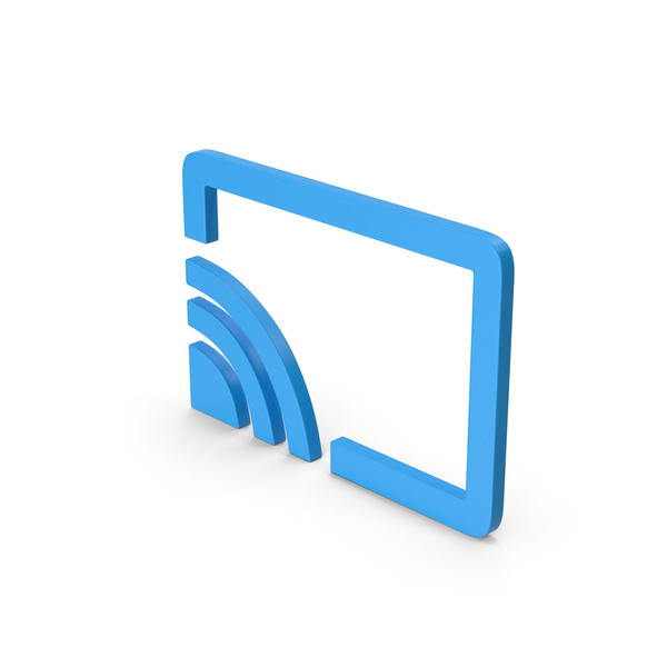 Computer Icon: Symbol Connect To TV Blue PNG & PSD Images