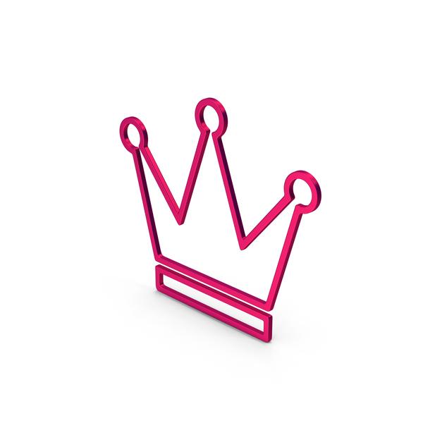 Symbols: Symbol Crown Metallic PNG & PSD Images