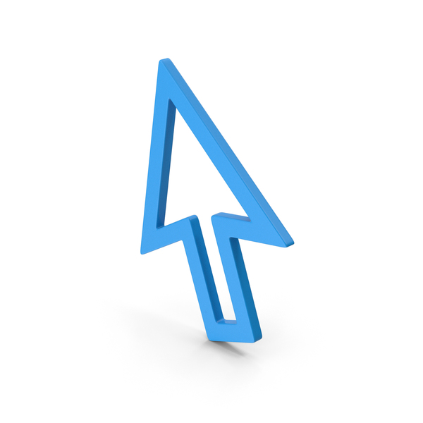 Symbol Cursor Arrow Blue PNG & PSD Images