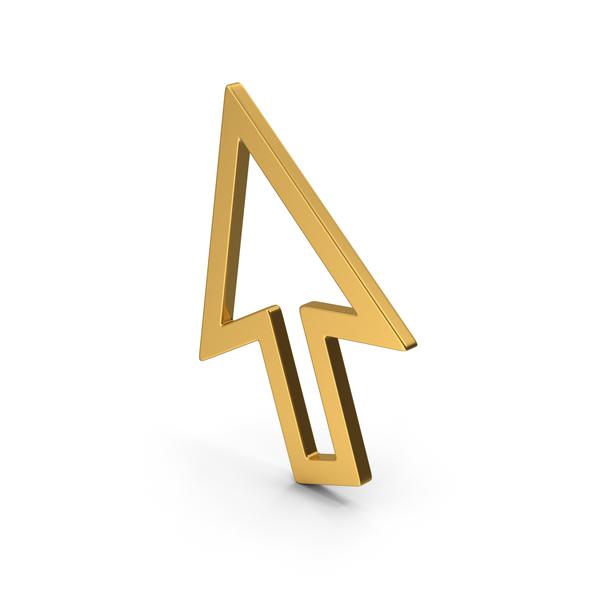Symbol Cursor Arrow Gold PNG & PSD Images